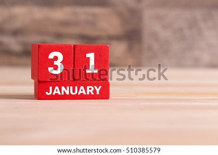 JANUARY 31 CALENDAR DAY #510385579