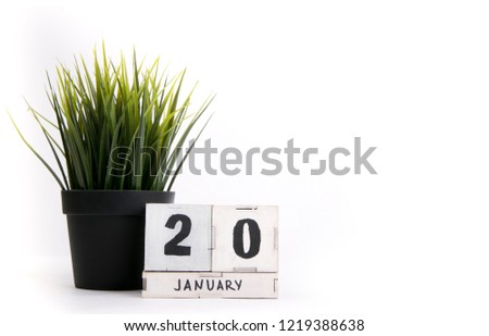 January 20. Day 20 of january month. Winter time #1219388638