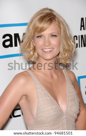 January Jones at the American Cinematheque Gala at the Beverly Hilton Hotel. October 13, 2007  Los Angeles, CA Picture: Paul Smith / Featureflash - stock photo