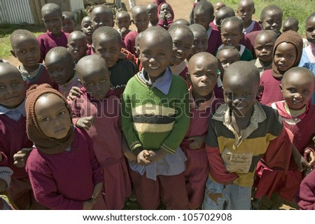 JANUARY 2007 - Karimba School with school children in North Kenya, Africa