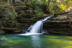 January 14th, 2018. Bankhead National Forest Sipsey Wilderness. Lower Caney Creek Falls
