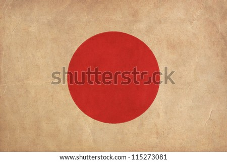 Japan flag drawing ,grunge and retro flag series