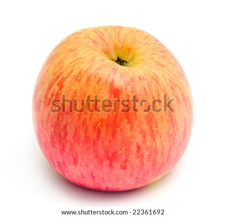 Japan fuji apple. Perfect fruit for dessert. Isolated on white background