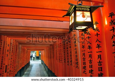 Japan's famous temple landmark, thousand torii