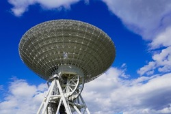 Japan's largest parabolic antenna looking up at the sky