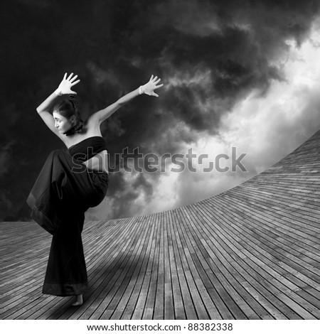Japan Stylized computer art image/Energy of Dance