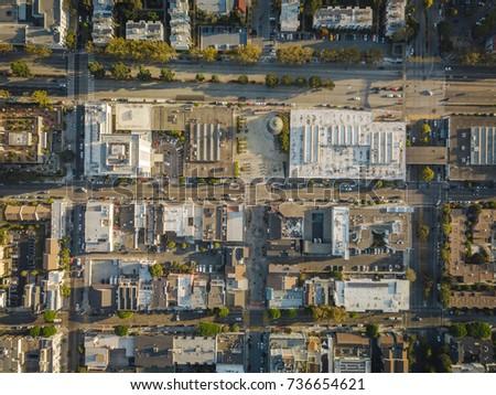 Japan Town San Francisco City Block Overhead Aerial Сток-фото ©