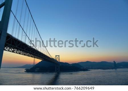 Japan, Yamaguchi, Kanmon Bridge                                #766209649
