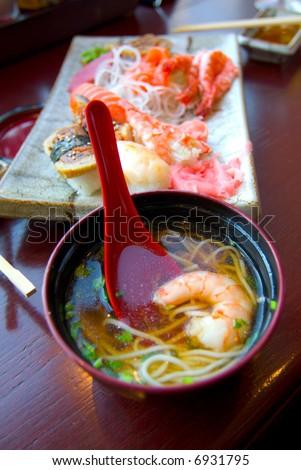 Japaneese food at oriental restaurant