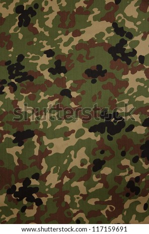 Japanese armed force flecktarn camouflage fabric texture background