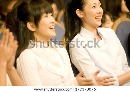 Japanese audience members  #177370076
