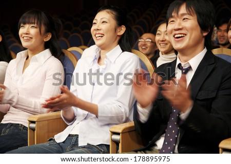 Japanese audience members #178895975