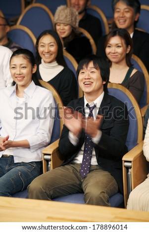 Japanese audience members #178896014