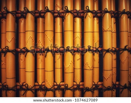 japanese bamboo fence panel #1074627089