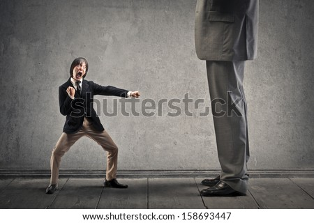 Japanese businessman attacks with karate moves a great man
