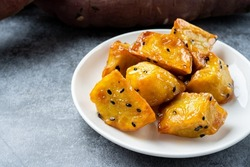 Japanese Candied Sweet Potato. A Japanese sweet snack made from sweet potatoes.