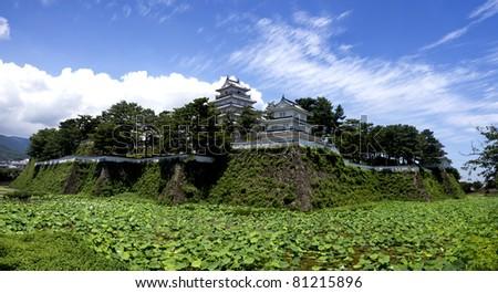 Japanese castle - stock photo