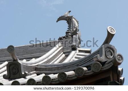 Japanese castle roof tiles