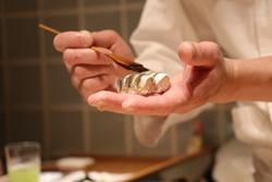 Japanese Chef Make Sushi and Sashimi