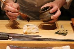 Japanese Chef Making Sushi-Tokyo-Japan