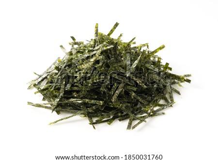Japanese chopped seaweed on a white background Photo stock ©