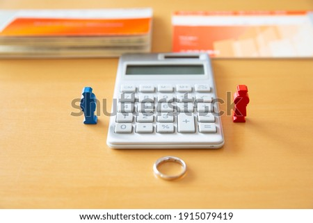 Japanese couple's marriage and divorce money image Stockfoto ©