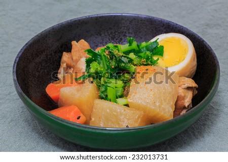 Japanese cuisine; Boiled and seasoned vegetables