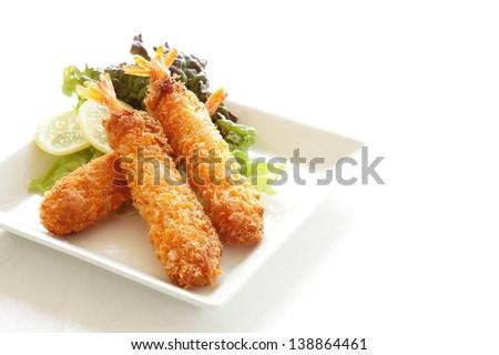 Japanese cuisine, Deep fried bread crumbs prawn