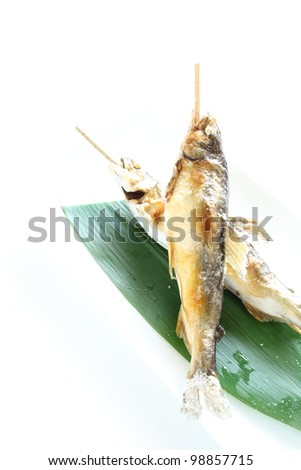 Japanese cuisine, grilled  Ayu freshness water fish