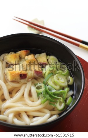 Japanese cuisine, Tempura on Udon noodles