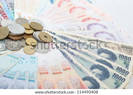 Japanese currency and South East Asia currency