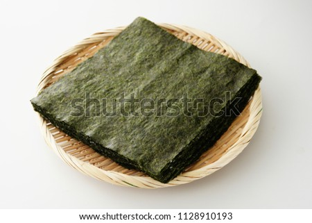 Japanese dried laver. Toasted laver. Photo stock ©
