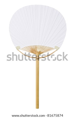 Japanese fan isolated on white background