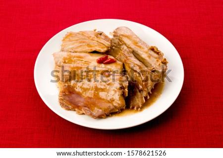 Japanese food, Maguro no arani, boiled the bony parts of Tuna Stock fotó ©