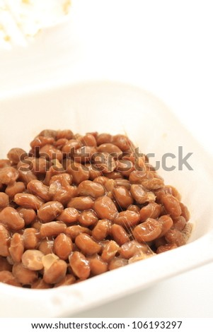 japanese food, Natto fermented soybeans