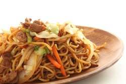 Japanese food, sauce fried noodles Yakisoban
