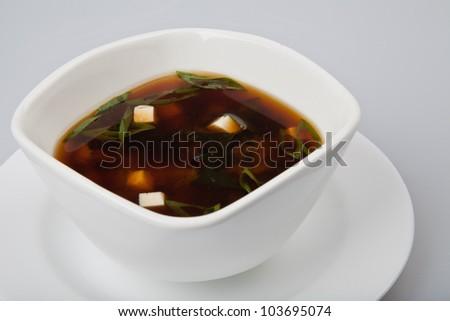 japanese food soup - stock photo