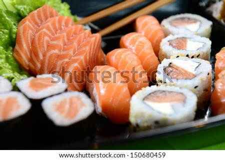 Japanese food Sushi and Sashimi