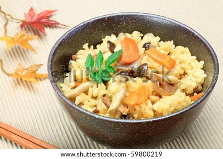 Japanese Food(Takikomi Gohan) Stock Photo 59800219 : Shutterstock