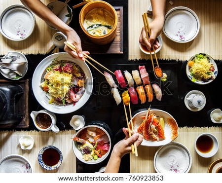 Japanese food variety #760923853