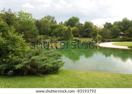 Japanese garden at the Montreal Botanical Garden -Jardin botanique de Montréal