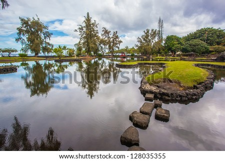 Japanese garden in Hilo, Hawaii