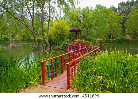 Japanese Garden in Napa Valley - stock photo