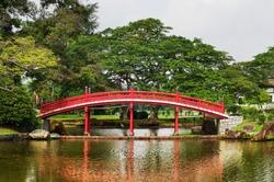 Japanese garden landscape in Singapore