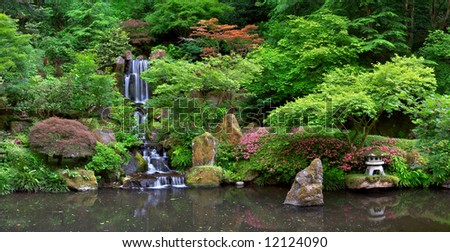 Japanese Garden Portland - stock photo