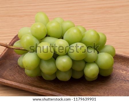 Japanese grape called Shine Muscat #1179639901