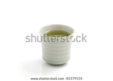 japanese green tea isolated in white background