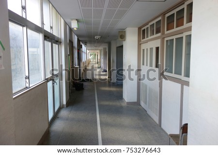 Japanese Junior high school corridor #753276643
