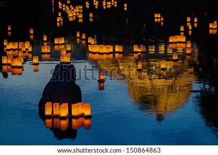 Stock Photo Japanese Lantern Celebration
