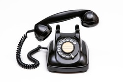 Japanese old black rotary dial telephone